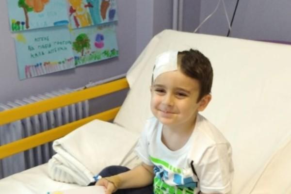 Βούλα: Κερδίζει τη μάχη ο 5χρονος Άγγελος που διαγνώστηκε με όγκο στον εγκέφαλο