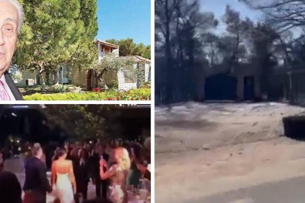 Κάηκε ολοσχερώς το σπίτι του Δημήτρη Κοντομηνά στη Βαρυμπόμπη! Εκεί είχε γίνει ο γάμος Ρέμου - Μπόσνιακ