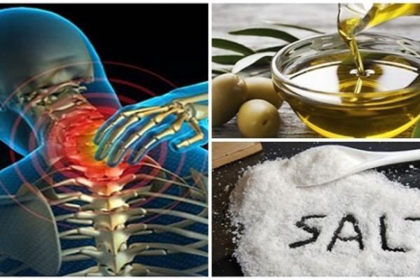 Ανακατέψτε λίγο αλάτι & ελαιόλαδο. Δεν θα αισθανθείτε πόνο για τα επόμενα 5 χρόνια!