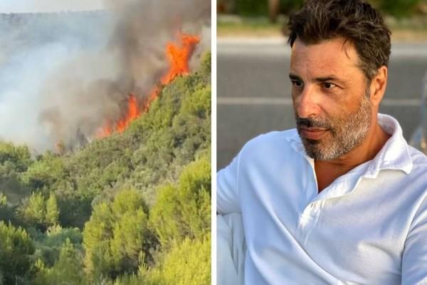 Μάχη με τις φλόγες για τον ηθοποιό, Βασίλη Παλαιολόγο! Βρέχει το σπίτι του για να μην
