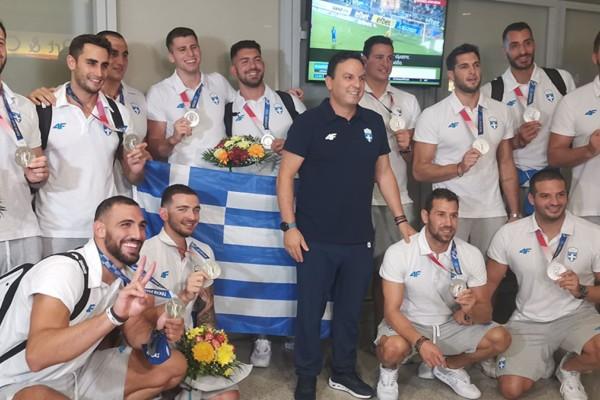 Εθνική ομάδα πόλο: Εορταστική υποδοχή για τους ασημένιους Ολυμπιονίκες