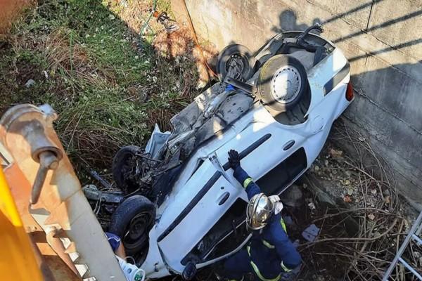 Τραγωδία στην Καβάλα: Νεκρός ο οδηγός αυτοκινήτου που έπεσε σε αρδευτικό κανάλι