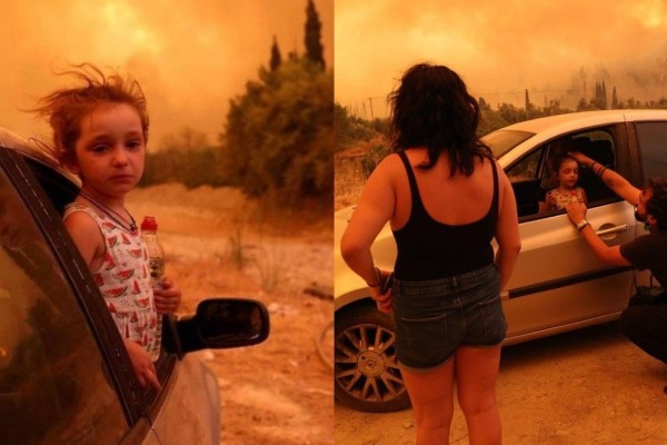 Φωτιά στην Εύβοια: Η μικρή Βαλεντίνα που συγκλόνισε το πανελλήνιο σταμάτησε να κλαίει