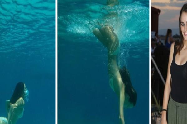 Μαρία Βοσκοπούλου: «Καίει» καρδιές με τις καλοκαιρινές λήψεις κάτω από το νερό