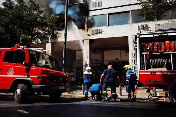 Φωτιά πάνω από το υπουργείο Υγείας - Εκκενώθηκε το κτίριο