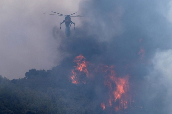 Φωτιά στην Ανατολική Μάνη