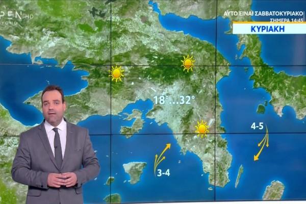 Καιρός σήμερα 26/9:  Με καλοκαιρινές συνθήκες η Κυριακή! Πού θα «σκαρφαλώσει» ο υδράργυρος - Αναλυτική πρόγνωση από τον Κλέαρχο Μαρουσάκη (Video)