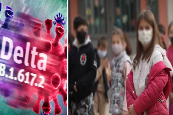 Συναγερμός! Η μετάλλαξη Δέλτα χτυπάει ένα στα τέσσερα παιδιά - Σοκάρουν τα στοιχεία του ΕΟΔΥ
