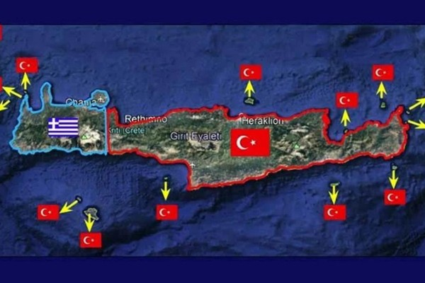 Απίστευτοι ισχυρισμοί Τούρκου απόστρατου: Τα 3/4 της Κρήτης ανήκουν στην Τουρκία
