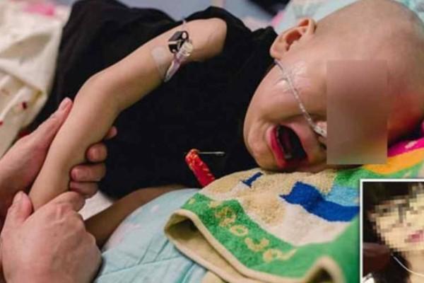 Μωράκι που πάσχει από καρκίνο κλαίει και θέλει τη μαμά του χωρίς να ξέρει κάτι το... τραγικό!