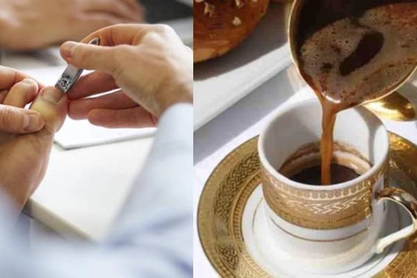 «O άντρας μου κόβει τα νύχια των ποδιών του και επειδή τα πετάει όπου βρει, εγώ τα ρίχνω στον καφέ του»