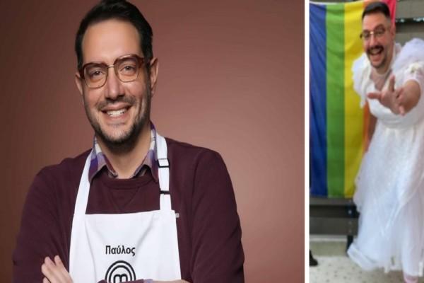 Με νυφικό στο Pride ο Παύλος Χάππιλος του Master Chef (photo)