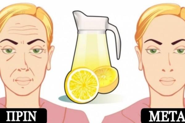 Ρυτίδες τέλος: Δοκιμάστε αυτό το σπιτικό τονωτικό με το λεμόνι και δείξτε πιο φρέσκες από ποτέ
