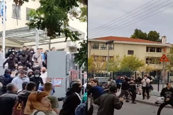 Άγρια επεισόδια έξω από σχολείο στη Θεσσαλονίκη: Ξύλο με καδρόνια και σουγιάδες! (Video)