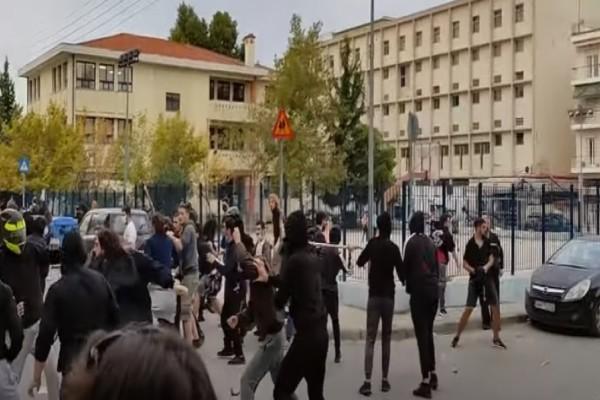 Θεσσαλονίκη: Νέα επεισόδια έξω από το ΕΠΑΛ Σταυρούπολης