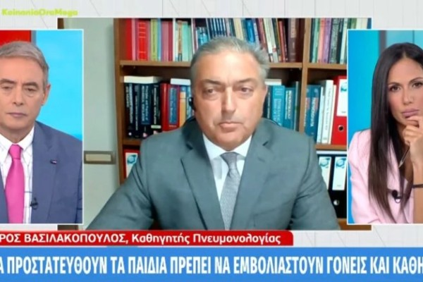 Θεόδωρος Βασιλακόπουλος: «Έχουμε χάσει 3 Ελληνόπουλα από κορωνοϊό – Κάθε βδομάδα σχεδόν ένα παιδί νοσηλεύεται σε ΜΕΘ»