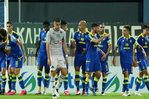 Αστέρας - Παναθηναϊκός 2-1: Πληγώθηκε ξανά στην Τρίπολη