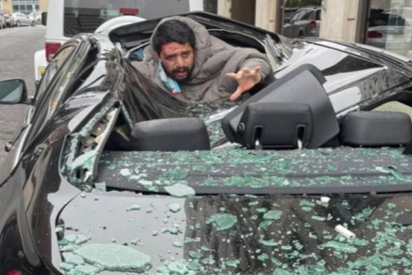 Σοκαριστικές εικόνες: Πήδηξε από τον 9ο όροφο, προσγειώθηκε σε οροφή αυτοκινήτου και σώθηκε!