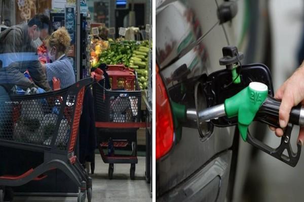 «Φωτιά» οι τιμές σε μεταφορές, καύσιμα και φρέσκα τρόφιμα - Ποια τσίμπησαν μέχρι 21,1% (Video)