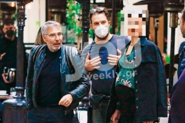 Με φουσκωμένη κοιλίτσα στους δρόμους της Αθήνας - Φωτογραφίες ντοκουμέντο μαζί με τον Θοδωρή Αθερίδη
