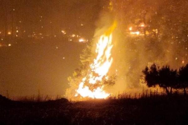 Βραδινή μάχη με τις φλόγες κοντά στο Μαρτίνο