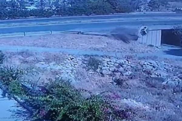 Ανατριχιαστικό βίντεο: Κρυφή κάμερα κατέγραψε το θανατηφόρο τροχαίο στην Κρήτη