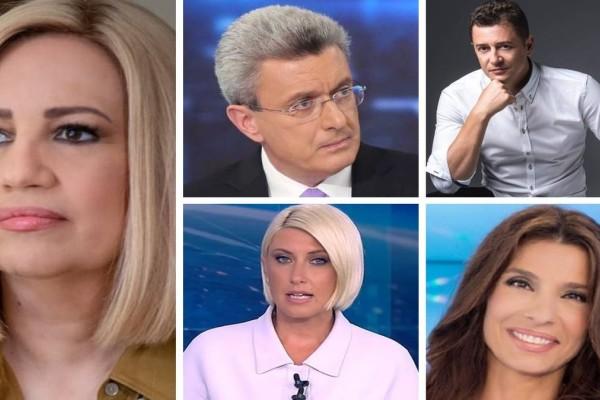 Χατζηνικολάου - Κοσιώνη - Τσαπανίδου - Σρόιτερ: Από που ενημερώθηκαν οι τηλεθεατές για τον θάνατο της Φώφης Γεννηματά!