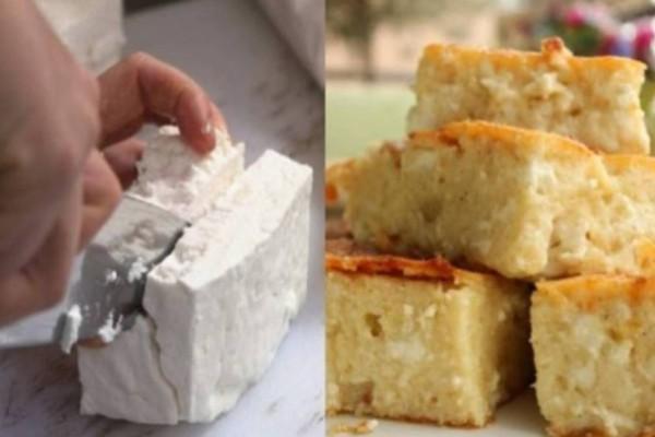 Τυρόπιτα της τεμπέλας: Η εύκολη πίτα χωρίς φύλλο, με γιαούρτι και φέτα, που γίνεται στη στιγμή