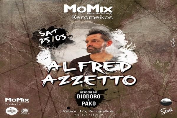 Το MoMix φιλοξενεί τον Alfred Azzetto. Ο θρυλικός Βενετσιάνος DJ επιστρέφει στην Ελλάδα και στο MoMix bar Kerameikos στις 25/3/17!