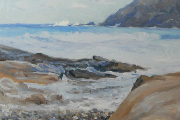 Η έκθεση ζωγραφικής του εικαστικού Βασίλη Τσοκόπουλου «Το νησί» στην γκαλερί του Black Duck!