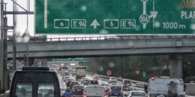 Κυκλοφοριακό χάος από την καταιγίδα στην Αθήνα - Που παρατηρούνται προβλήματα