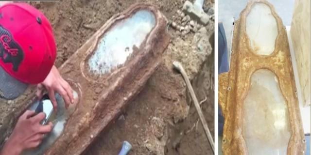 Έκαναν ανακαίνιση στο σπίτι και βρήκαν ένα μυστηριώδης φέρετρο θαμμένο -