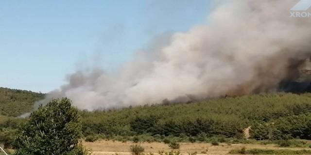 Συναγερμός στις Σάπες Ροδόπης: Απειλεί σπίτια η φωτιά