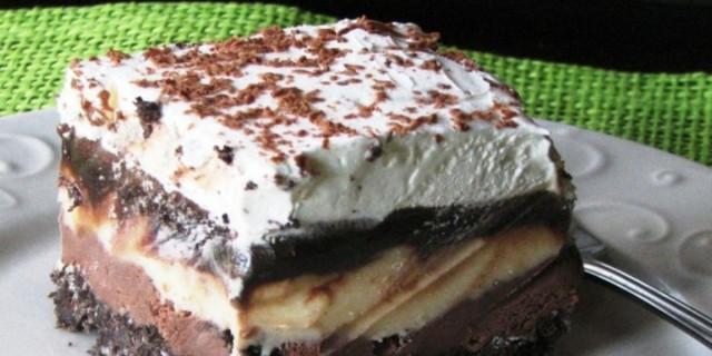 Τριπλή απόλαυση - Ένα λαχταριστό γλύκο ψυγείου με τρία είδη σοκολάτας