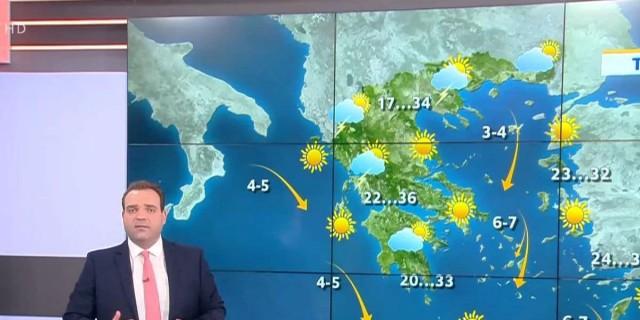 «Σε καλοκαιρινό μοτίβο ο καιρός...» Η αρχική πρόβλεψη του Κλέαρχου Μαρουσάκη για το Δεκαπενταύγουστο (Video)