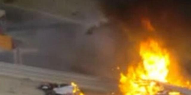 Formula 1: Σοκ στην εκκίνηση - Μονοθέσιο κόπηκε στη μέση και πήρε φωτιά (Video)