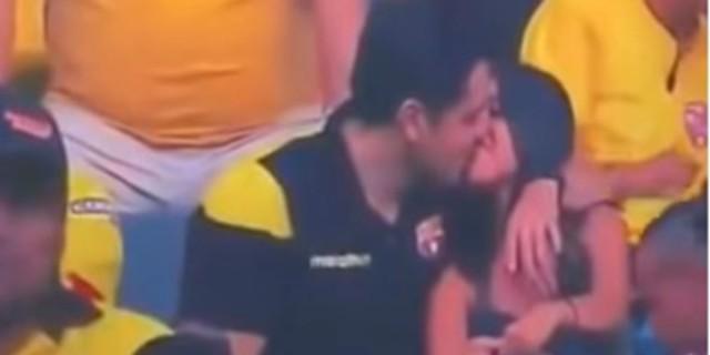 Κάμερα έπιασε 34χρονο να φιλάει την ερωμένη του - Η αντίδρασή του... (Video)