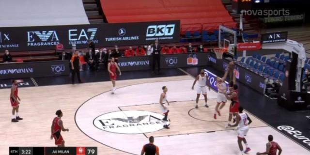 Euroleague: Επέστρεψε αλλά έχασε στο Μιλάνο ο Ολυμπιακός (video)