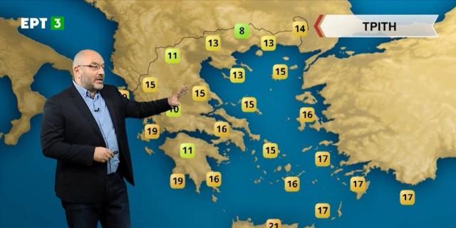 «Ασανσέρ η θερμοκρασία με κοκτέιλ βροχών, χιονοπτώσεων και σκόνης» - Καμπανάκι από τον Σάκη Αρναούτογλου