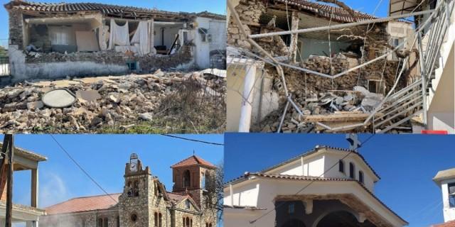 Σεισμός στην Ελασσόνα: Σημαντική καθίζηση εδάφους - Μετρούν τις πληγές τους οι κάτοικοι