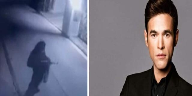 Μένιος Φουρθιώτης: Η στιγμή που άγνωστος «γαζώνει» το σπίτι του (Video)
