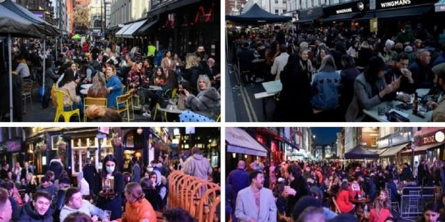 Χαμός στη Βρετανία: Ξεχύθηκαν στις παμπ - «Πλημμύρισαν» με κόσμο οι δρόμοι στο Λονδίνο (Video)