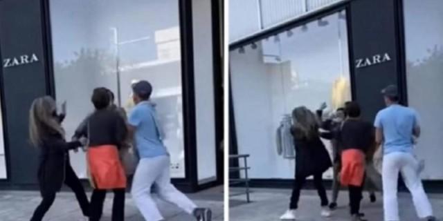 «Φύγε από εδώ μωρή, παλιοτσόλι»: Ξύλο μεταξύ γυναικών έξω από πολυκατάστημα στη Γλυφάδα!