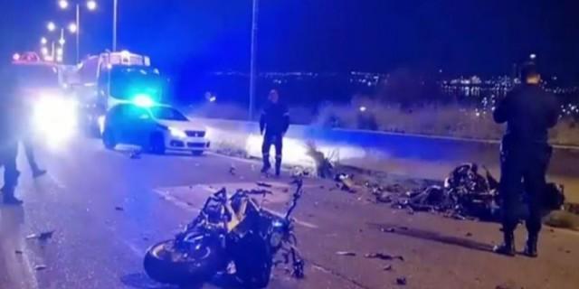 Νεκρός οδηγός μοτοσικλέτας  που οδηγούσε στο αντίθετο ρεύμα