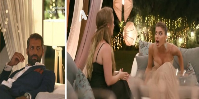 The Bachelor 2: «Σκοτώθηκαν» Φαίη και Άννα - Της πέταξε τη σαμπάνια και ο Αλέξης... (Video)