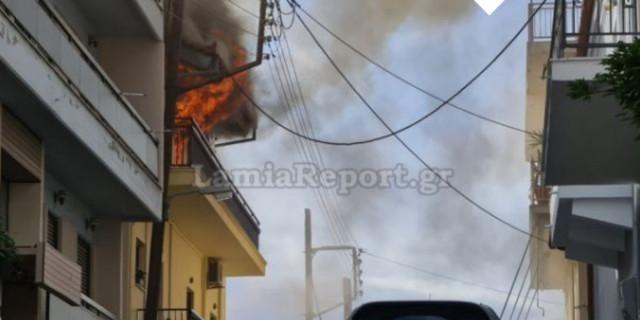 Συναγερμός στη Λαμία – Σπίτι τυλίχτηκε στις φλόγες
