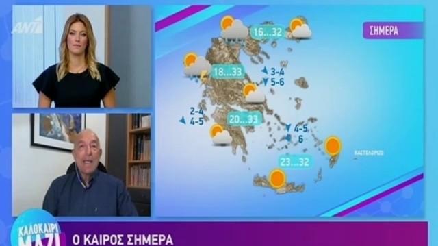 Τάσος Αρνιακός: Άνοδος της θερμοκρασίας με τοπικές μπόρες!