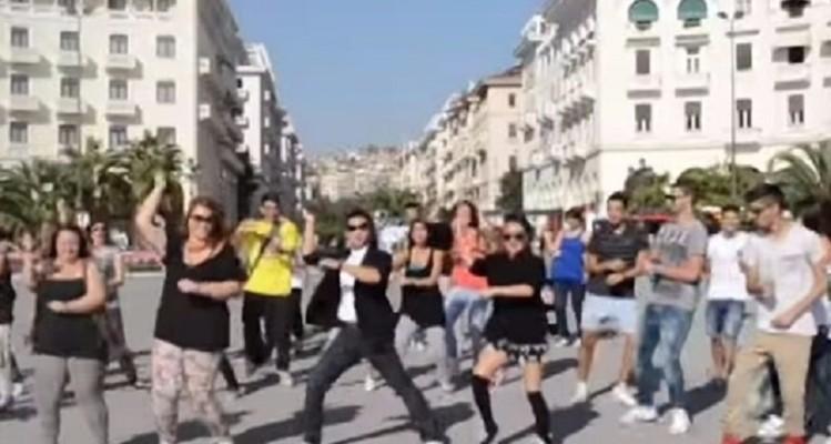 Κλάμα: Δείτε τον Ορέστη Τσάνγκ να χορεύει Gangnam Style στην Πλατεία Αριστοτέλους! (video)