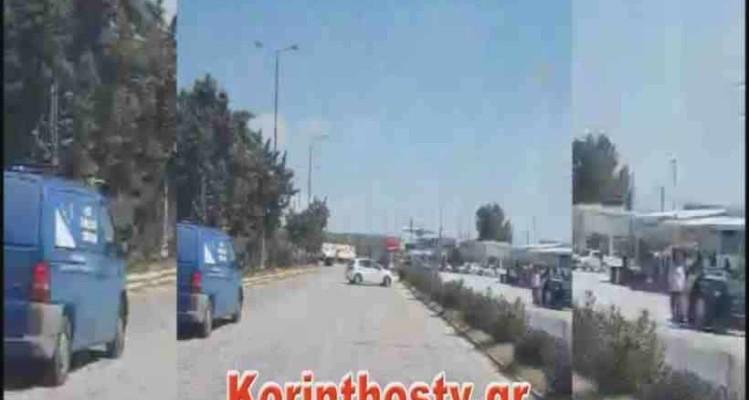 Όχημα οδηγούσε ανάποδα στην Αθηνών - Κορίνθου! (video)