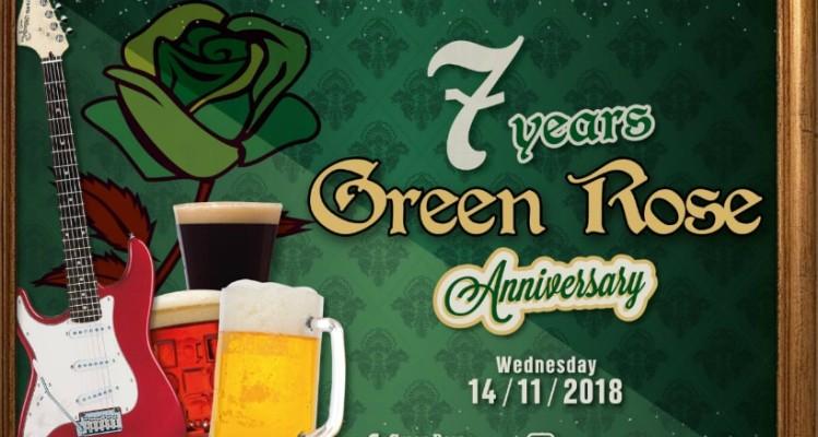 To Green Rose Beer-Restaurant κλείνει 7 χρόνια και το γιορτάζει!